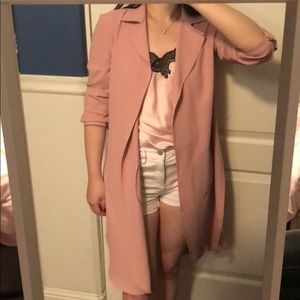 New York & Company pink trench coat